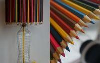 Veioza cu creioane colorate lucrata manual