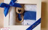 Set cadou ursulet albastru