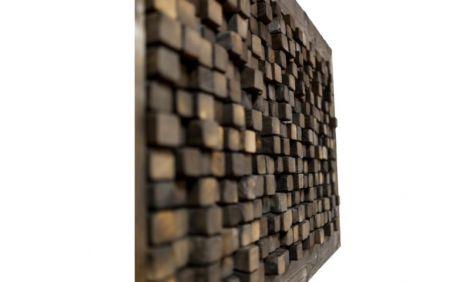 Tablou din cuburi de lemn ars Mosazen