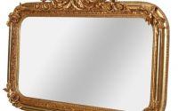 Oglinda din cristal cu o rama aurie cu diverse