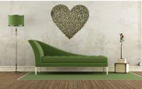 Tablou inima din felii de lemn de nuc