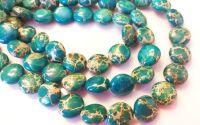 Margele Regalit verde albastrui banut 12.5 mm