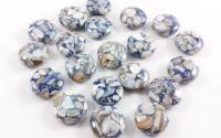Margele sidef mozaic banuti 12 x 5 mm