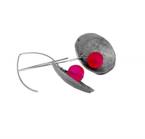Argila sticla si inox - Media mix earrings