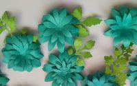 Flori 3Dturcoaz