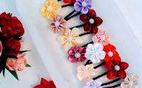 Agrafe de pr cu flori din satin