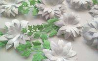 Flori 3D - alb 5cm
