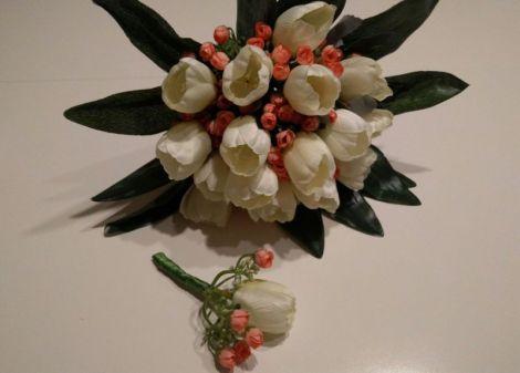 Buchet mireasa +floare mire