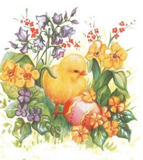 1748 Servetel pui printre flori 1