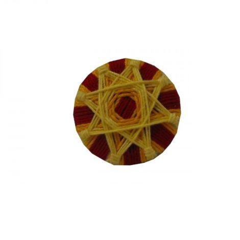 Brosa - Mantala- round textile brooch