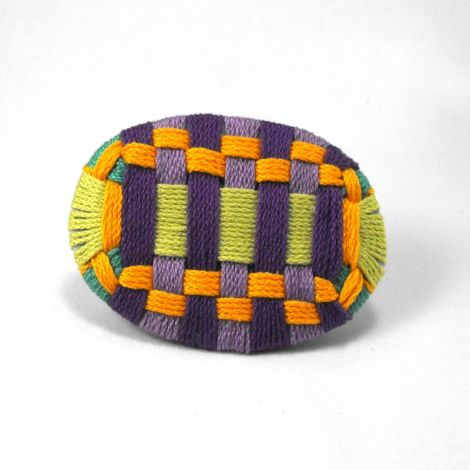 Geometrie- Simple and modern textile brooch