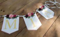 Ghirlanda personalizata cu flori petrecere