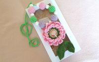 Colier alaptare Floare roz
