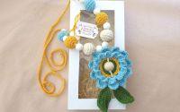 Colier alaptare Floare bleu
