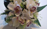 Buchet mireasa trandafiri si orhidee