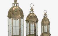 Set trei felinare din metal antichizat