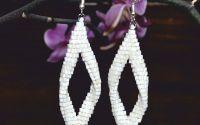 cercei lungi albi cercei mireasa cercei perle