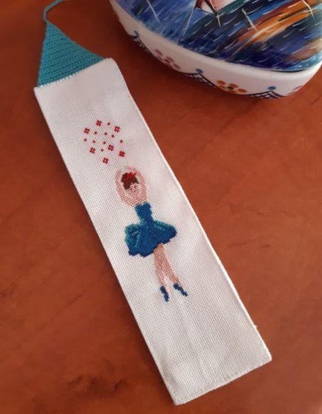 Semn de carte cu balerina