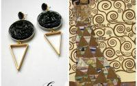 Cercei din capasule de cafea Klimt Expectation