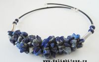 Colier chipsuri lapis lazuli