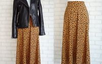 Fusta Midi Clos  print leopard