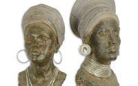 Pereche de africane - statuete din rasini MGO