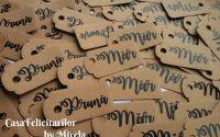 Etichete craft cu mesaj personalizat