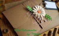 Plic craft decorat cu floare