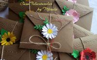 Plicuri craft decorate cu flori