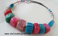 Colier agate multicolore 08