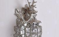 Aplica din alama masiva argintie cu un cerb