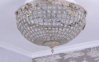Plafoniera din cristal cu decoratiuni argintii