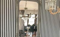 Oglinda baroc din cristal cu o rama gri antichizat