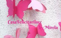 Ghirlanda decorativa fluturi roz