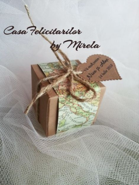 Cutie craft pentru marturii nunta-tematica Travel