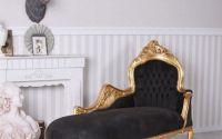 Sofa din lemn masiv auriu cu tapiterie din catifea