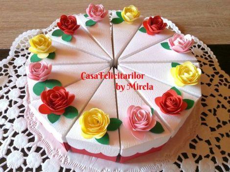 Cutii marturii felie de tort