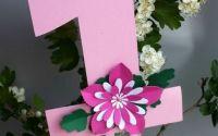 Toppers tort cifra unu cu floare
