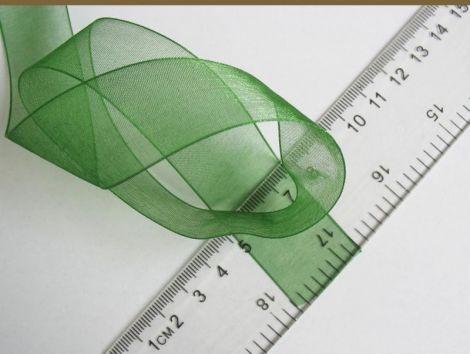 Panglica organza verde x2m