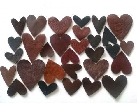 Lot 30 inimioare piele naturala