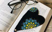 Semn de carte din piele - Inima