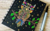 Mandala Design - Agenda cu spirala - Spring Owl
