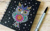 Mandala Design -Agenda cu spirala - MidNight Owl