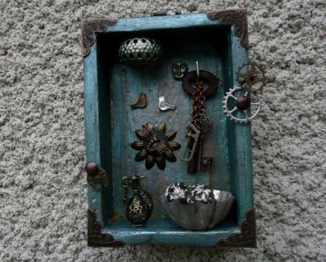 Mini decor perete-shabby retro vintage primitiv