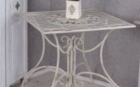 Masa din fier forjat antik white