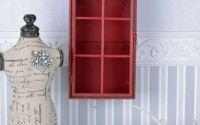 Dulap pentru chei din metal rosu antichizat
