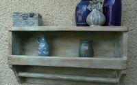 Raft perete lemn - vintageshabbyretrorustic
