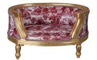 Canapea pentru caine din lemn masiv auriu