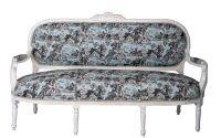 Sofa Madame Pompadour din lemn masiv alb