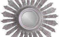 Oglinda din cristal cu rama gri soare